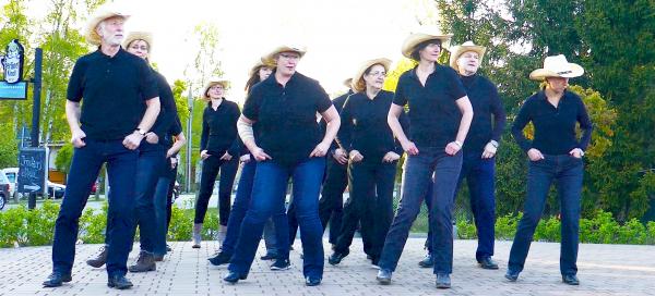 Line Dance Auftritt